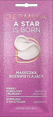 Aufhellende Gesichtsmaske für alle Hauttypen - Dermika A Star is Born