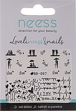 Düfte, Parfümerie und Kosmetik Nagelsticker 3684, BD-007 - Neess
