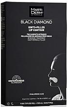 Düfte, Parfümerie und Kosmetik Straffende Anti-Falten Patches für die Lippenpartie - MartiDerm Black Diamond Ionto-Filler Lip Contour