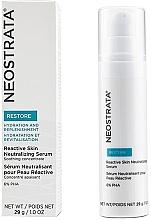 Düfte, Parfümerie und Kosmetik Beruhigendes und neutralisierendes Gesichtsserum gegen Pigmentflecken und Rötungen - Neostrata Restore Reactive Skin Neutralizing Serum 6% PHA