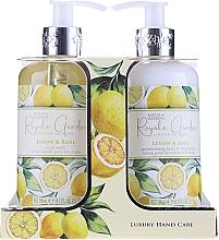 Düfte, Parfümerie und Kosmetik Körperpflegeset - Baylis & Harding Royale Garden Lemon & Basil (Flüssige Handseife 300ml + Körperlotion 300ml)