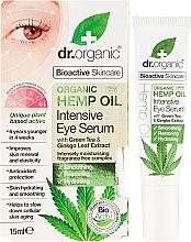 Düfte, Parfümerie und Kosmetik Intensives Augenserum mit Hanföl - Dr. Organic Bioactive Skincare Hemp Oil Intensive Eye Serum