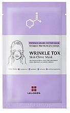 Düfte, Parfümerie und Kosmetik Feuchtigkeitsspendende Anti-Aging Tuchmaske gegen Falten - Leaders Wrinkle Tox Skin Clinic Mask