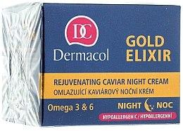 Düfte, Parfümerie und Kosmetik Verjüngende Nachtcreme - Dermacol Gold Elixir Rejuvenating Caviar Night Cream