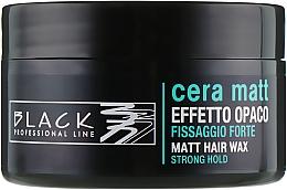 Düfte, Parfümerie und Kosmetik Haarwachs mit Matteffekt Starker Halt - Black Professional Line Cera Matt Effetto Opaco