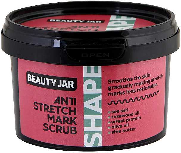 Glättendes Körperpeeling gegen Dehnungsstreifen - Beauty Jar Shape Anti-Stretch Mark Scrub