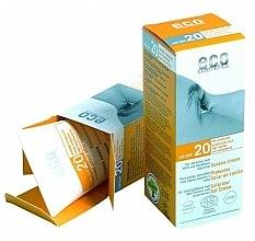 Düfte, Parfümerie und Kosmetik Sonnenschutzcreme mit Granatapfel- und Sanddornextrakt SPF 20 - Eco Cosmetics Suntan Cream SPF 20