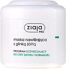 Düfte, Parfümerie und Kosmetik Feuchtigkeitsspendende Gesichtsmaske - Ziaja Pro Moisturizing Mask with Yellow Clay