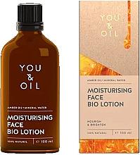 Düfte, Parfümerie und Kosmetik Feuchtigkeitsspendende Gesichtslotion mit Bernsteinöl - You & Oil Moisturising Face Bio Lotion Amber Oil+Mineral Water