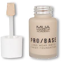 Düfte, Parfümerie und Kosmetik Langanhaltende mattierende Foundation - MUA Pro Base Long Wear Matte Finish Foundation