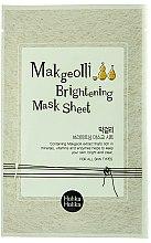 Düfte, Parfümerie und Kosmetik Aufhellende Tuchmaske für das Gesicht mit Reiswein-Extrakt - Holika Holika Makgeolli Brightening Mask Sheet