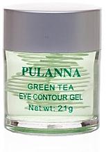 Düfte, Parfümerie und Kosmetik Feuchtigkeitsspendendes pflegendes und tonisierendes Gel für die Augenpartie mit grünem Tee - Pulanna Green Tea Eye Countour Gel