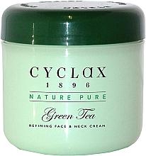 Düfte, Parfümerie und Kosmetik Tonisierende Anti-Aging Gesichts- und Halscreme mit grünem Tee - Cyclax Nature Pure Green Tea Face & Neck Cream