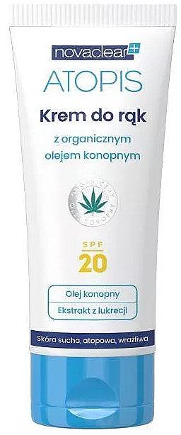 Handcreme für trockene, atopische und empfindliche Haut mit Bio Hanföl SPF 20 - Novaclear Atopis Hand Cream SPF20
