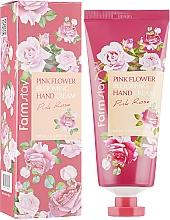 Düfte, Parfümerie und Kosmetik Handcreme mit Rosenextrakt - FarmStay Pink Flower Blooming Hand Cream Pink Rose