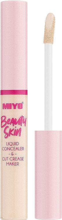 Flüssiger Concealer - Miyo Beauty Skin Liquid Concealer & Cut Crease Maker (01 -Hello Cream)