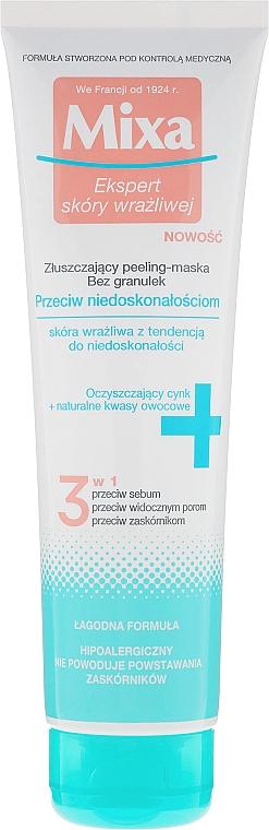 3in1 Gesichtsreinigungsmaske mit leichtem Peeling-Effekt für empfindliche Haut - Mixa Face Peeling Mask 3in1