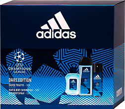 Düfte, Parfümerie und Kosmetik Adidas UEFA Dare Edition - Duftset (Duschgel 250ml + Deospray 150ml + Eau de Toilette 100ml)
