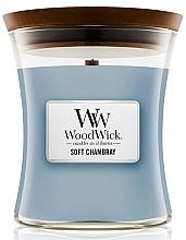 Düfte, Parfümerie und Kosmetik Duftkeze im Glas Soft Chambray - WoodWick Hourglass Candle Soft Chambray