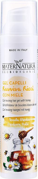 Modellierendes Haargel-Fluid für lockiges Haar mit Honig - MaterNatura Curl Reviving Hair Gel With Honey