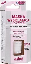 Düfte, Parfümerie und Kosmetik Peel-Off-Behandlung mit natürlichen Extrakten bei der Korrektur gelber Nägel - Ados Whitening Nail Mask