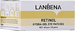 Düfte, Parfümerie und Kosmetik Hydrogel-Augenpatches mit Retinol - Lanbena Retinol Collagen Hydra-Gel Eye Patch