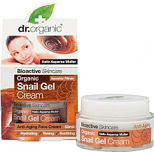 Düfte, Parfümerie und Kosmetik Anti-Aging Gel-Creme für das Gesicht mit Schneckenschleim-Extrakt - Dr. Organic Bioactive Skincare Snail Gel Cream