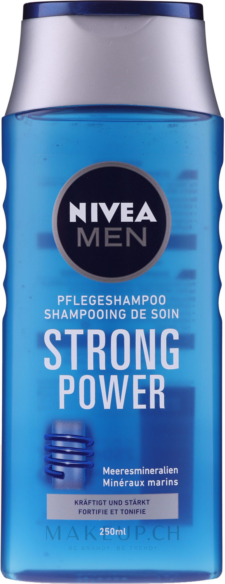 "Pflegeshampoo für Männer ""Strong Power"" - Nivea For Men Shampoo — Bild 250 ml"