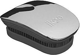 Düfte, Parfümerie und Kosmetik Haarbürste - Ikoo Pocket Oyster Metallic Black