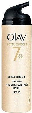 Feuchtigkeitsspendende Tagescreme SPF 15 - Olay Total Effects Day Cream Sensitive SPF15  — Bild N1