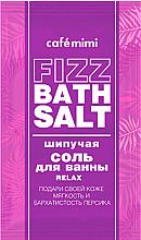 Düfte, Parfümerie und Kosmetik Entspannendes und aufweichendes Badesalz mit Pfirsichextrakt - Cafe Mimi Fizz Bath Salt