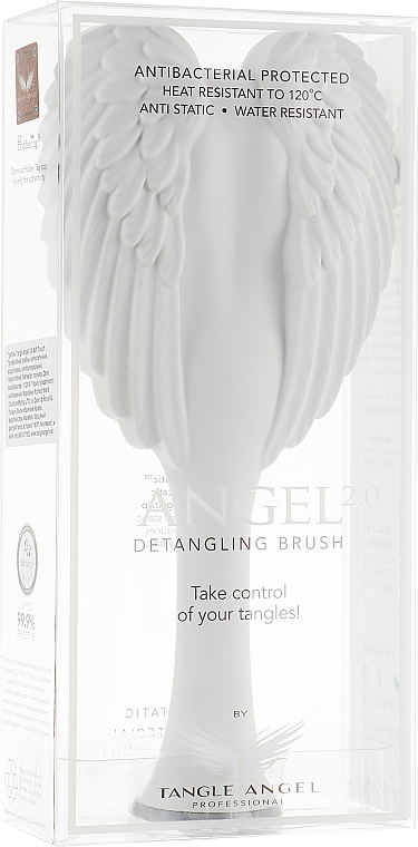 Entwirrbürste weiß-grau 18,7 cm - Tangle Angel 2.0 Detangling Brush White/Grey