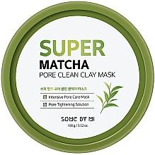 Düfte, Parfümerie und Kosmetik Feuchtigkeitsspendende und porenreinigende Gesichtsmaske mit Tonerde und Matcha - Some By Mi Super Matcha Pore Clean Clay Mask
