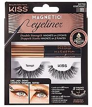 Düfte, Parfümerie und Kosmetik Magnetische Wimpern - Kiss Magnetic Eyeliner & Lash Kit KMEK02 Tempt