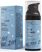 Düfte, Parfümerie und Kosmetik Gesichtscreme für Männer mit Hyaluronsäure und Avocadoöl - Kili·g Man Face Cream
