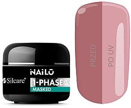 Düfte, Parfümerie und Kosmetik UV-Nagelgel zur Maskierung von Unvollkommenheiten - Silcare Nailo 1-Phase Gel UV Masked
