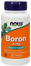 Düfte, Parfümerie und Kosmetik Nahrungsergänzungsmittel Bor 3 mg - Now Foods Boron