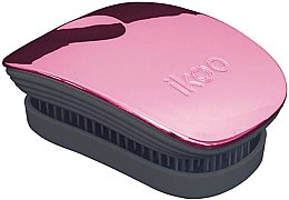 Düfte, Parfümerie und Kosmetik Haarbürste - Ikoo Pocket Rose Metallic Black