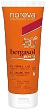 Düfte, Parfümerie und Kosmetik BB Creme für das Gesicht SPF50 + - Noreva Laboratoires Bergasol Expert BB Cream Light SPF50+