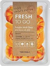 Düfte, Parfümerie und Kosmetik Straffende Tuchmaske für das Gesicht mit Kürbisextrakt - Tony Moly Fresh To Go Mask Sheet Pumpkin
