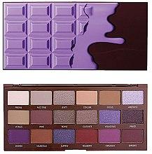 Düfte, Parfümerie und Kosmetik Lidschattenpalette mit 18 Farben - I Heart Revolution Eyeshadow Palette Violet Chocolate