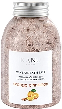 Düfte, Parfümerie und Kosmetik Sól mineralna do kąpieli Pomarańcza z cynamonem - Kanu Nature Orange Cinnamon Mineral Bath Salt