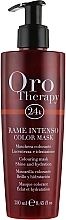 Düfte, Parfümerie und Kosmetik Illuminierende farbauffrischende Pflegemaske für natürliches und coloriertes Haar - Fanola Oro Therapy Color Mask Intense Copper