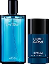 Düfte, Parfümerie und Kosmetik Davidoff Cool Water - Duftset (Eau de Toilette 125ml + Deo Stick 75ml)