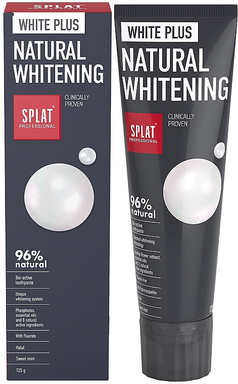 Aufhellende natürliche Zahnpasta - SPLAT Professional White Plus Natural Whitening