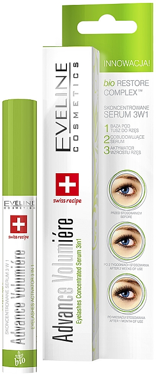 Aktives Wimpernserum 3in1 - Eveline Cosmetics Cosmetics Eyelashes Concentrated Serum 3in1