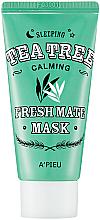 Düfte, Parfümerie und Kosmetik Nachtmaske für das Gesicht mit Teebaum - A'pieu Fresh Mate Tea Tree Mask