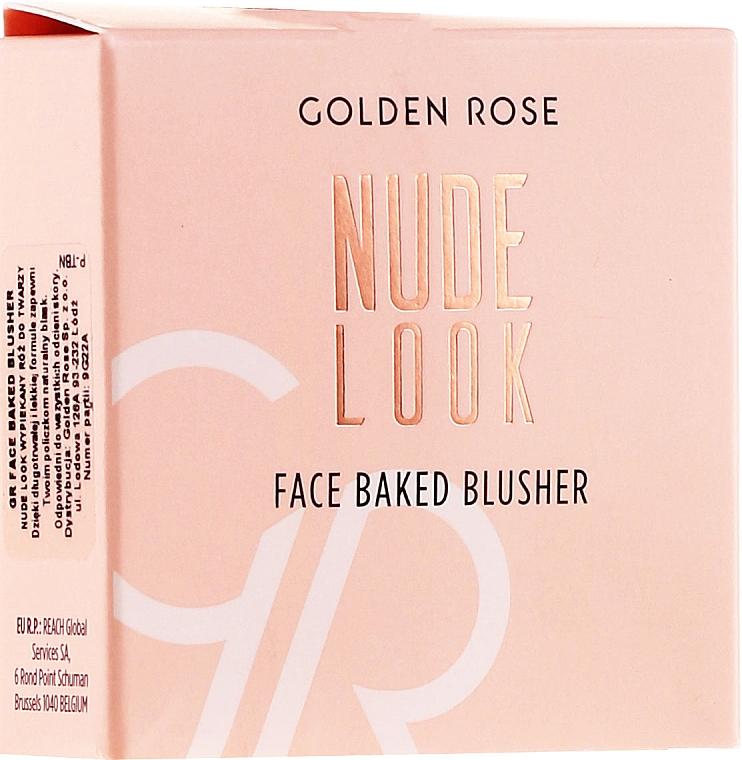 Langanhaltendes Rouge - Golden Rose Nude Look Face Baked Blusher