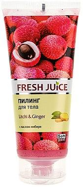 Körperpeeling mit Ingwer und Litschibaum - Fresh Juice Litchi & Ginger