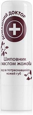 Antiseptischer Lippenbalsam mit Hagebutte und Jojobaöl - Hausarzt